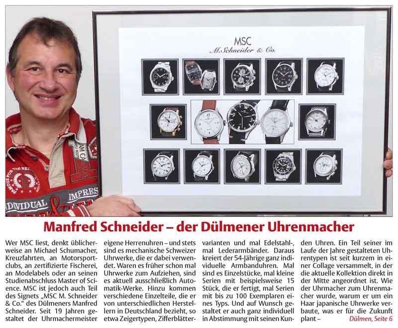 Manfred Schneider – der Dülmener Uhrenmacher